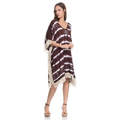 Shaded kurta with Fringes Brown - Fashionalia