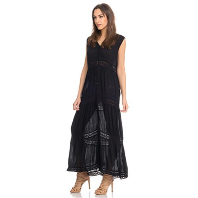 lace long dress Black - Fashionalia
