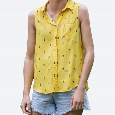 Blusa Estampada Coconut Palm - Fashionalia