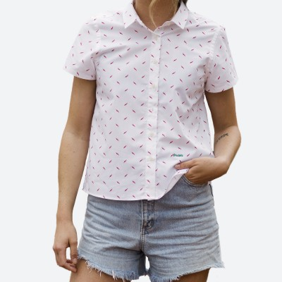 Blusa Estampada Hot Chili White Edition - Fashionalia
