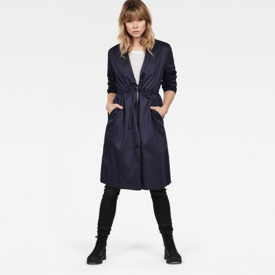 Deline Long Loose Trench - Fashionalia