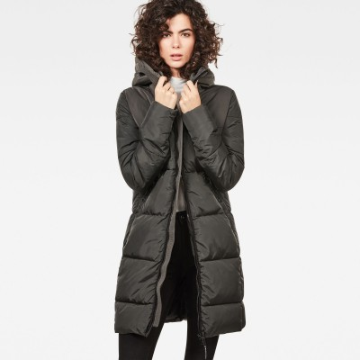 Whistler Hooded Quilted Slim Long Coat (a140)