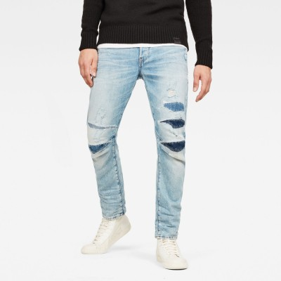 D-Staq 3D Tapered 3D-Restored Jeans (Light Aged 3D Restored) - Fashionalia
