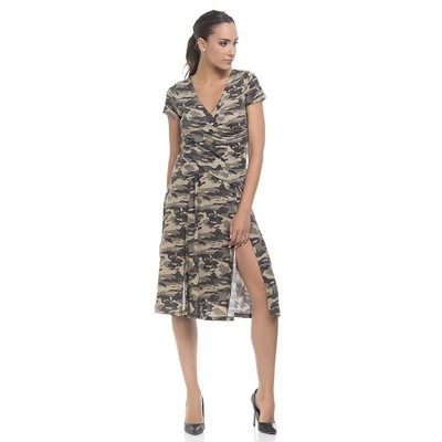 Camouflage skirt with open sides Green
