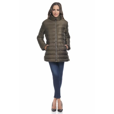 Coat with 2 separate pieces: Jacket and vest with hood Green