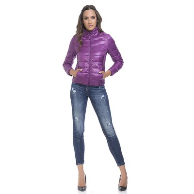 Quilted anorak Purple