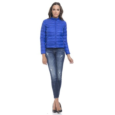 Quilted anorak Blue
