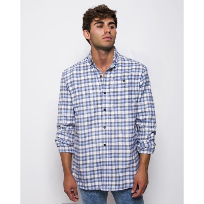 Willow Flannel Celeste/Gris