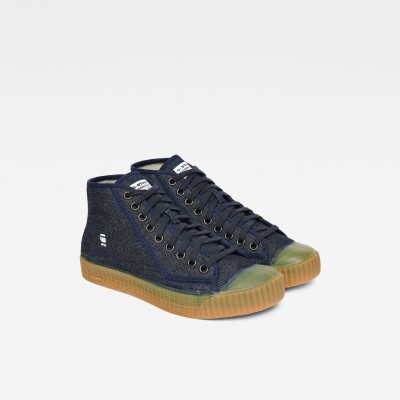 Rovulc Denim Mid Sneakers (Dark Navy)