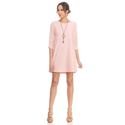 Wide Solid dress Pink
