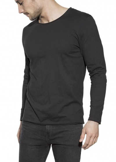 LONG-SLEEVE RELAXED BLACK