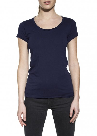 CREW-NECK RELAXED DARK NAVY W