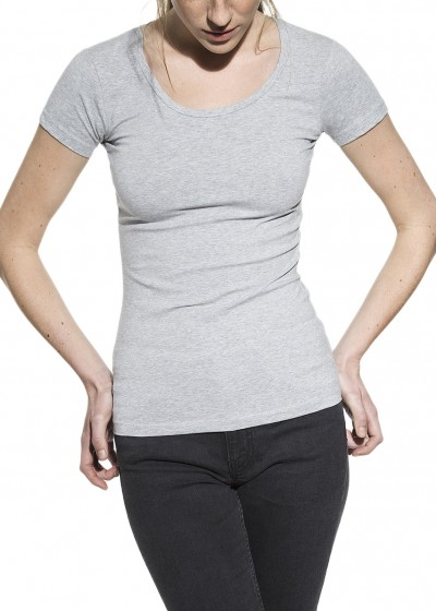 CREW-NECK GREY MELANGE W