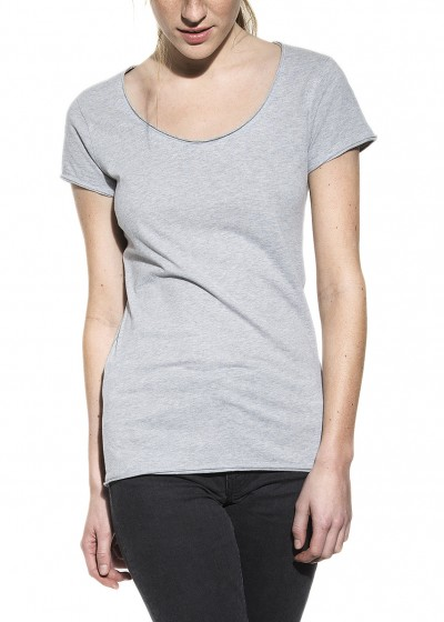 CREW-NECK RELAXED GREY MELANGE W