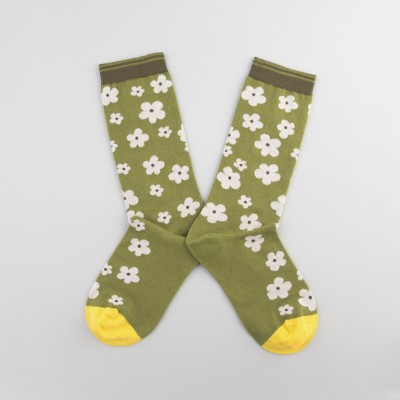 Calcetines con dibujo Green Flowers