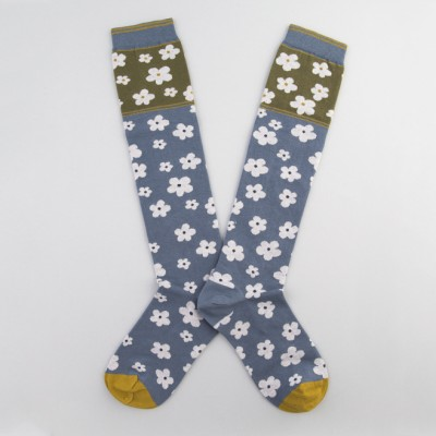 Calcetines con dibujo Blue Flowers
