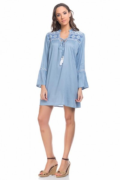 beachwear kaftan tunic Blue