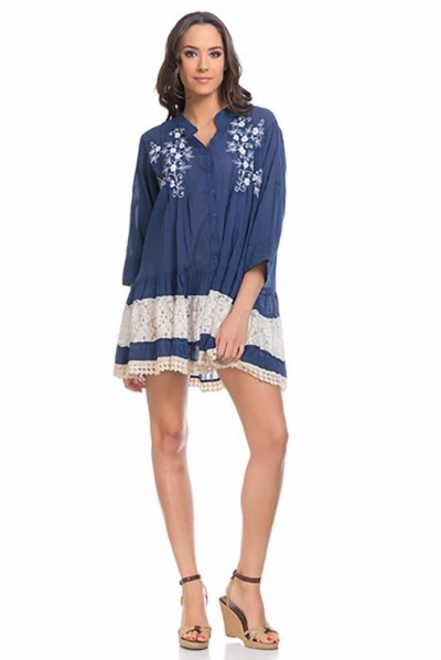 beachwear kaftan tunic Navy