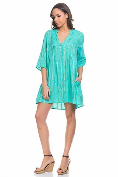 beachwear kaftan tunic Green