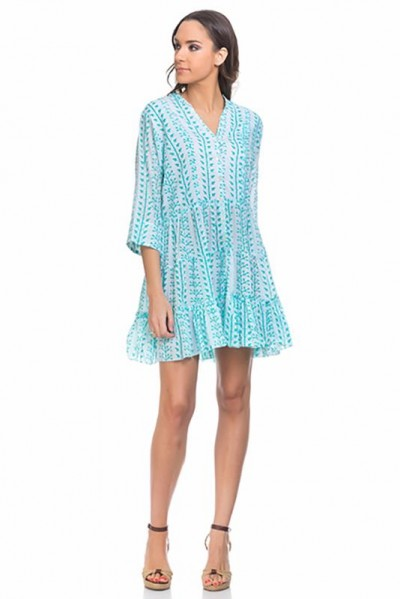 beachwear kaftan tunic Green 80146