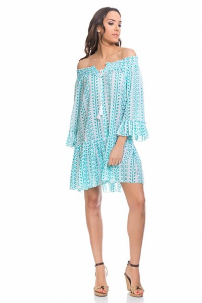 beachwear kaftan tunic Green 80148