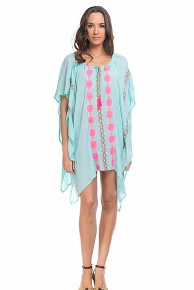beachwear kaftan tunic Green 80149