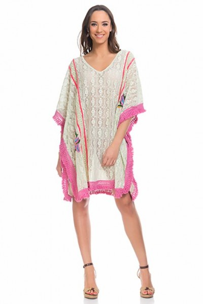 beachwear kaftan tunic Green 80153