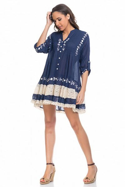 beachwear kaftan tunic Navy 80161